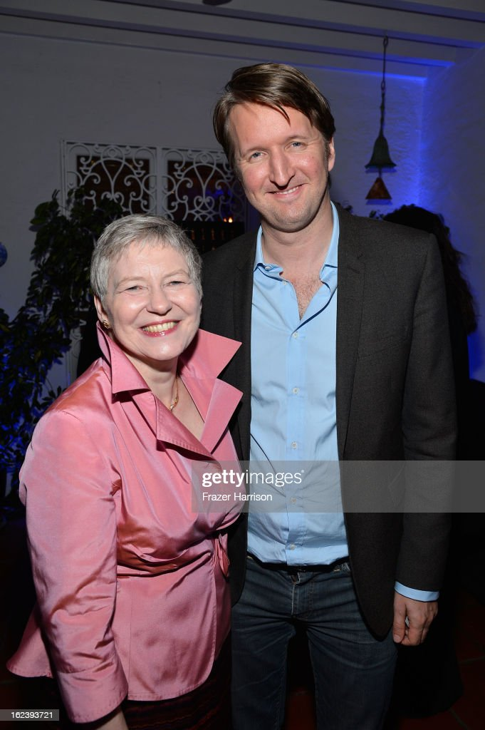 British Consul General Dame Barbara Hay (L) and Director Tom Hooper attend the GREAT British Film Reception at British Consul General's Residence on February 22, 2013 in Los Angeles, California.