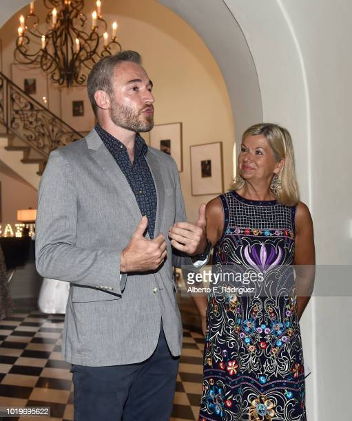 British Consul General in LA Michael Howells and BAFTALA CEO Chantal Rickards attend the BAFTALA Summer Garden Party at The British Residence on...
