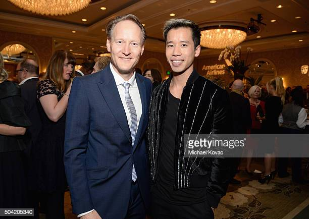British Consul General in Los Angeles Chris O'Connor and internet personality Jared Eng attend the BAFTA Los Angeles Awards Season Tea at Four...