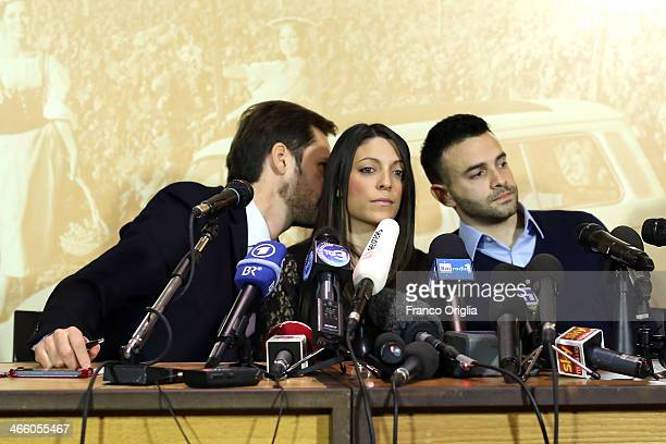 British consulat in Italy member Pierluigi Puglia Meredith Kercher's sister Stephanie Kercher and brother Lyle Kercher speak to the press at the Star...