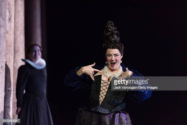 British contralto Hilary Summers performs during the final dress rehearsal prior to the season premiere of the Canadian Opera Company/Zhang Huan...