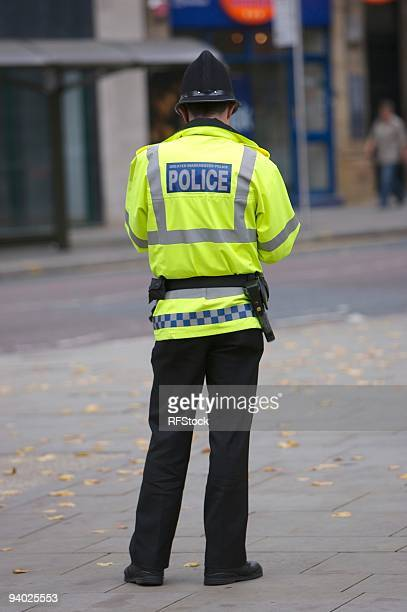 british cop (greater manchester police) - manchester uk stock photos and pictures