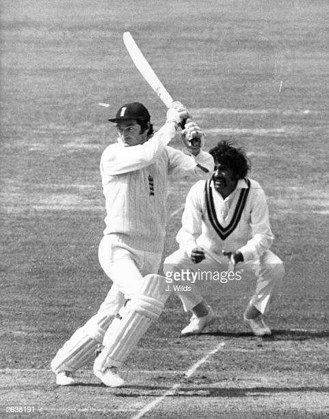 British cricketer Alan Knott playing for England against Pakistan at Lord's cricket ground London