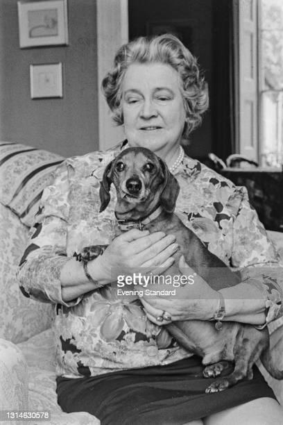 British crime writer and children's author Christianna Brand , UK, 8th May 1974.
