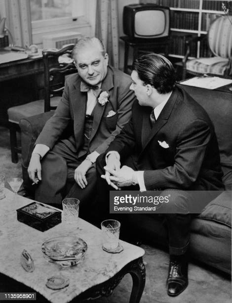 British criminal Ronald 'Ronnie' Kray talking to British Conservative politician Robert Boothby UK 20th June 1969