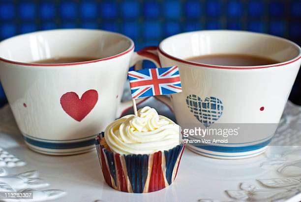 british cupcakes - british culture stock pictures, royalty-free photos & images