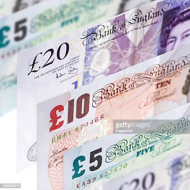 moeda britânica - nota de dez pounds - fotografias e filmes do acervo