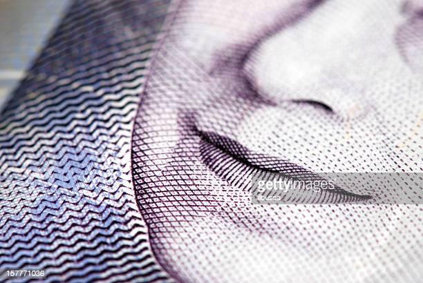 Britische Währung mit Queen Elizabeth die zweite Porträt