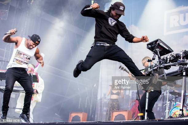 British dance act Rudimental perform at Lollapalooza Berlin on September 10 2017 in Berlin Germany