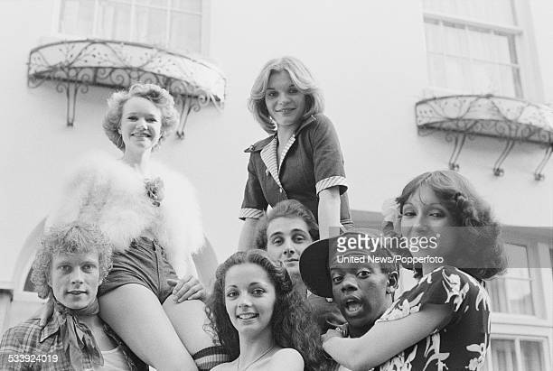 British dance troupe Ruby Flipper pictured in London on 7th May 1976 From left to right Gavin Trace Lulu Cartwright Cherry Gillespie Sue Menhenick...