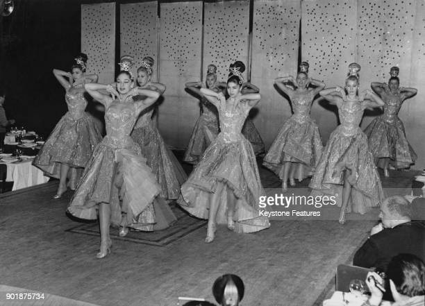 British dance troupe the Bluebell Girls appear on stage at the Lido in Paris France 1959
