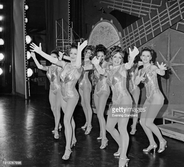 British dance troupe the Tiller Girls, UK, 25th October 1973.
