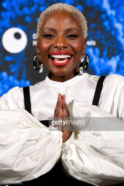 British dancer and actress Nikeata Thompson poses prior to the 13th German Sustainability Award at Maritim Hotel on December 4, 2020 in Duesseldorf,...