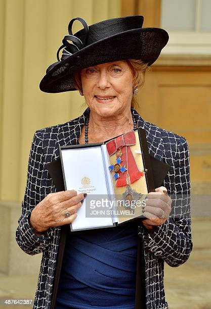 British dancer and choreographer Dame Gillian Lynne is pictured after she was made a Dame Commander of the Order of the British Empire for services...