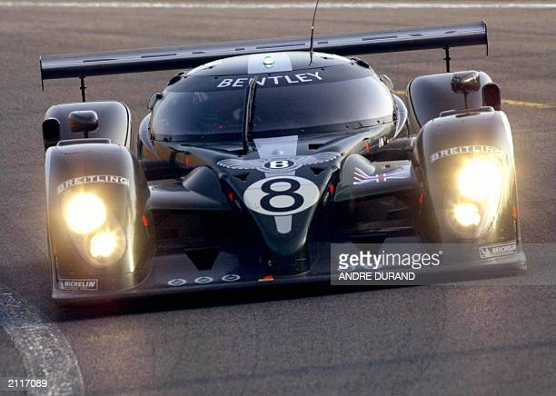British David Brabham Johny Herbert and Martin Blundell's Bentley vies 12 June 2003 in the second qualifying session of Le Mans 24 Hours Race