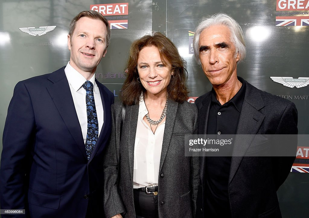 British Deputy Ambassador to the US Patrick Davies, actress Jacqueline Bisset and Nicky Butler attend the GREAT British film reception honoring the British nominees of the 87th Annual Academy Awards at The London West Hollywood on February 20, 2015 in West Hollywood, California.