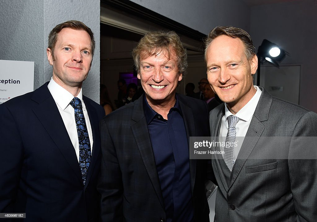 British Deputy Ambassador to the US Patrick Davies, producer Nigel Lythgoe, and British Consul General Chris O'Connor attend the GREAT British film reception honoring the British nominees of the 87th Annual Academy Awards at The London West Hollywood on February 20, 2015 in West Hollywood, California.