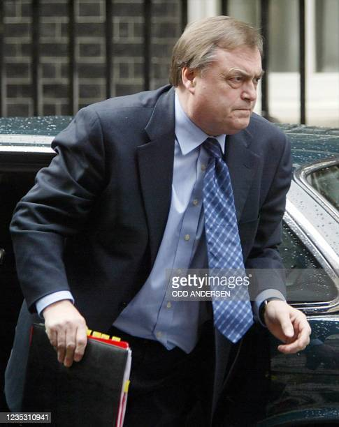 British deputy Prime minister John Prescott arrives at N0. 10 Downing street in London, 06 April 2004 for a summit on immigration called by Prime...