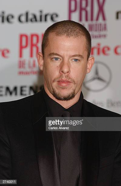 British designer Alexander McQueen attends the press conference for the 1st Edition of Marie Claire Magazine Fashion Awards at Hotel Villamagna on...