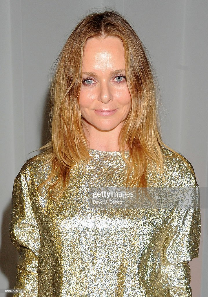 British Designer of the Year winner Stella McCartney poses at the Harper's Bazaar Women of the Year Awards 2012, in association with Estee Lauder, Harrods and Tiffany & Co., at Claridge's Hotel on October 31, 2012 in London, England.