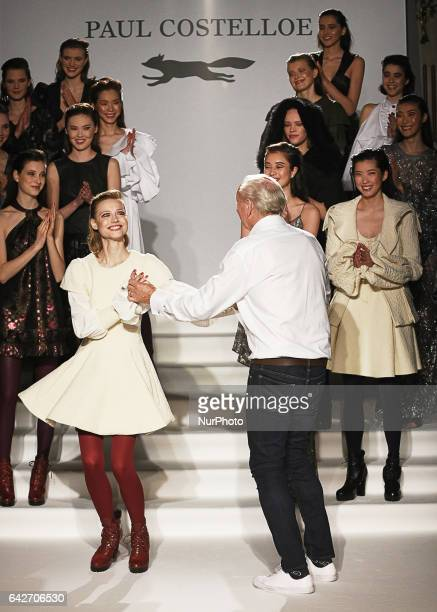 British designer Paul Costelloe presents his aw17 collection at London Fashion Week on Feb 17th 2017 at the Wardof Hilton hotel in Aldwych London