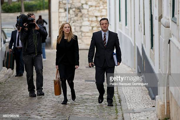 British Detectives Chiefs Inspectors Nicola Wall and Andy Redwood arrive at Faro's Police Station during an investigation on Madeleine McCann case on...