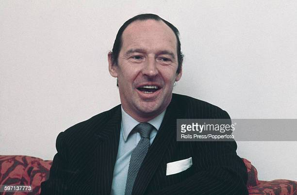 British diplomat and Conservative Party politician David OrmsbyGore 5th Baron Harlech also known as Lord Harlech pictured at a meeting in 1968