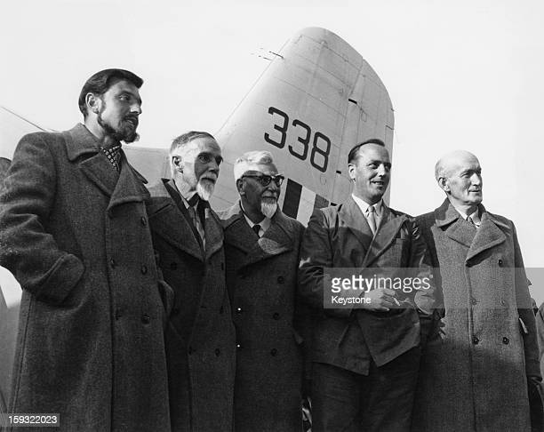 British diplomat and spy George Blake the former viceconsul in Seoul South Korea arrives at Berlin airport en route to Britain after his release 21st...
