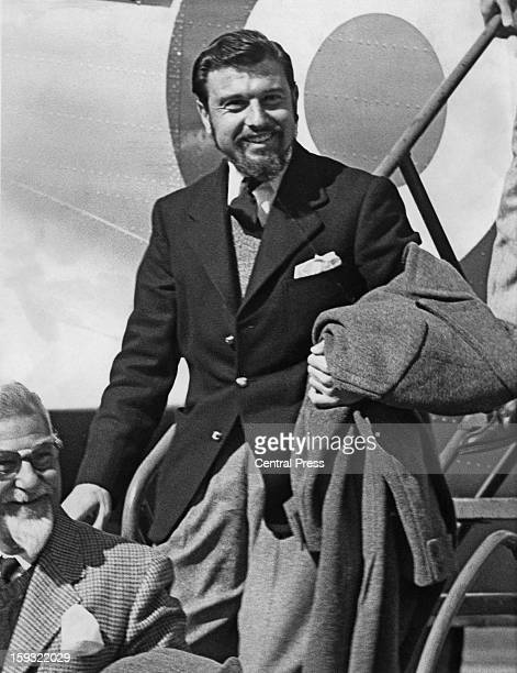 British diplomat and spy George Blake, the former vice-consul in Seoul, South Korea, arrives at RAF Abingdon in Oxfordshire after his release, 22nd...