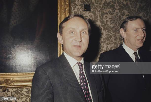British diplomat Crispin Tickell key member of the UK negotiating team for entry in to the Common Market pictured at a function to celebrate the...
