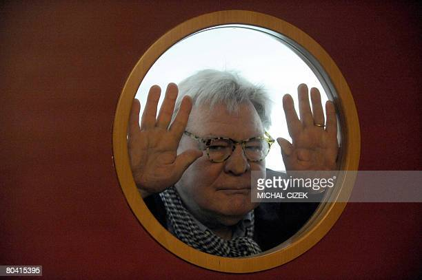 British director Alan Parker poses for photographers after his press conference during Prague's International Film Festival ''Febiofest'' on March 28...