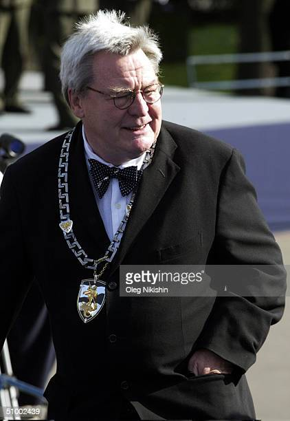 British director Alan Parker the Chairman of the 26th Moscow International Film Festival's Grand Jury before the conclusion ceremony of the festival...
