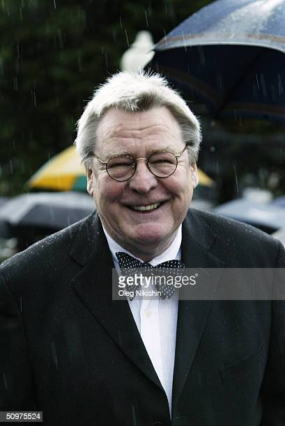 British director and jury president Alan Parker arrives during the opening ceremony of the XXVI Moscow International Film Festival at Russia's Cinema...