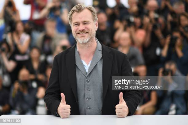 British director Christopher Nolan poses on May 12, 2018 during a photocall at the 71st edition of the Cannes Film Festival in Cannes, southern...