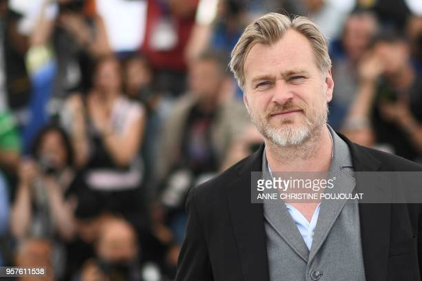 British director Christopher Nolan poses on May 12 2018 during a photocall at the 71st edition of the Cannes Film Festival in Cannes southern France