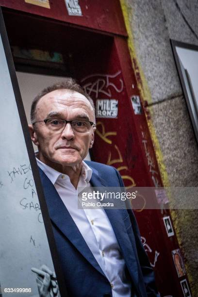 British director Danny Boyle atttends the 'T2 Trainspotting photocall at 'La Via Lactea' Pub on February 2 2017 in Madrid Spain