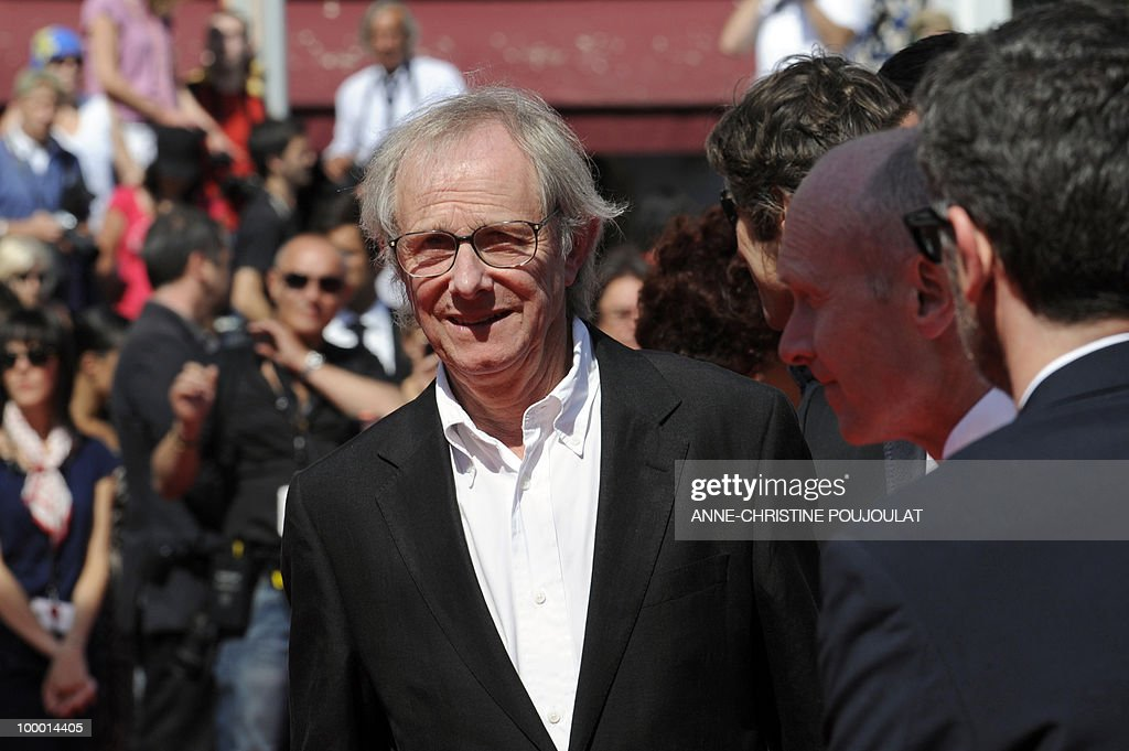 British director Ken Loach arrives for the screening of 'Route Irish' presented in competition at the 63rd Cannes Film Festival on May 20, 2010 in Cannes.