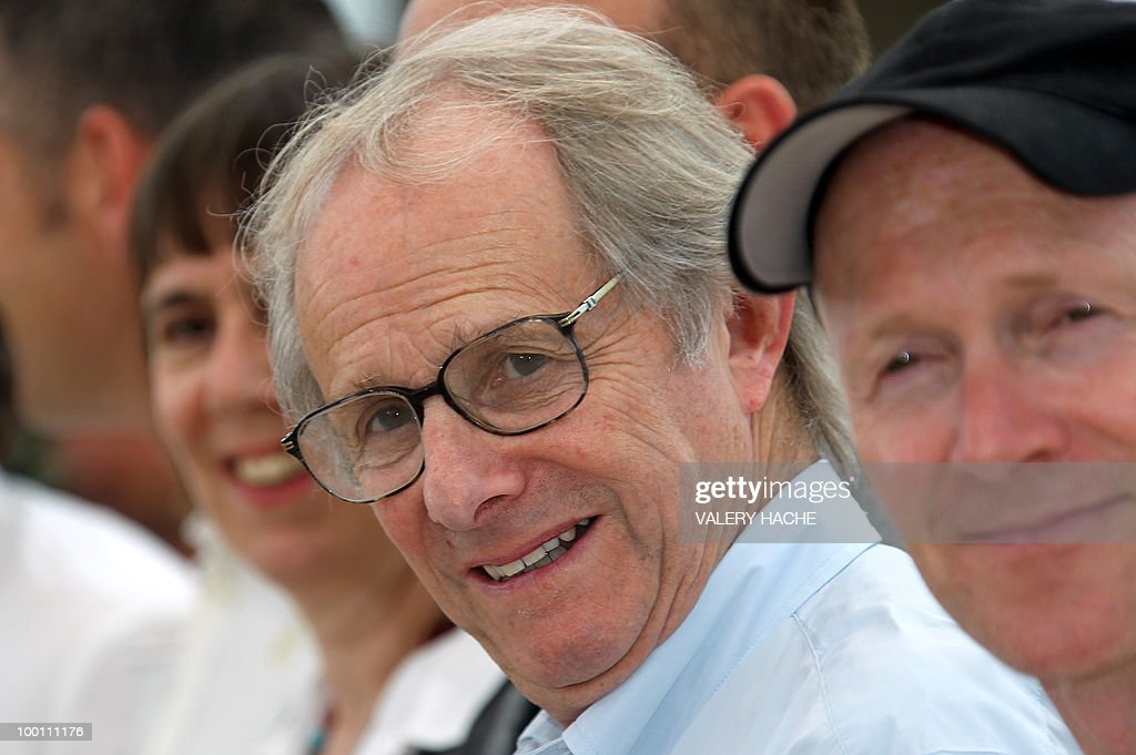 British director Ken Loach (C) poses during the photocall 'Route Irish' presented in competition at the 63rd Cannes Film Festival on May 21, 2010 in Cannes.
