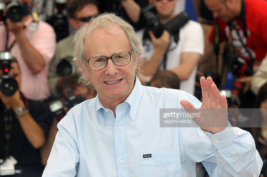 British director Ken Loach poses during the photocall 'Route Irish' presented in competition at the 63rd Cannes Film Festival on May 21, 2010 in Cannes.