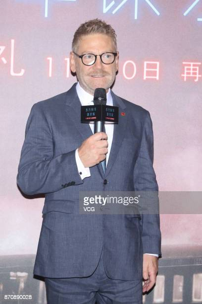 British director Kenneth Branagh attends the premiere of film 'Murder on the Orient Express' on November 6, 2017 in Beijing, China.