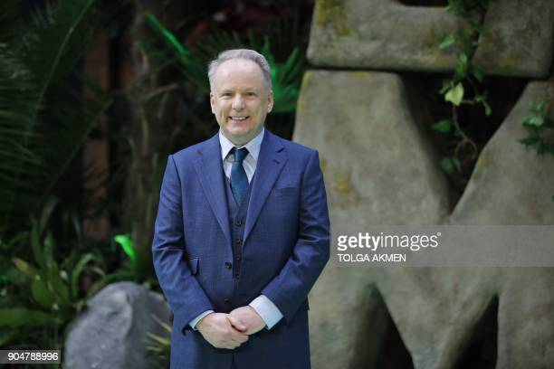 British director Nick Park poses on the carpet arriving to attend the world premiere of the film Early Man in London on January 14 2018 / AFP PHOTO /...