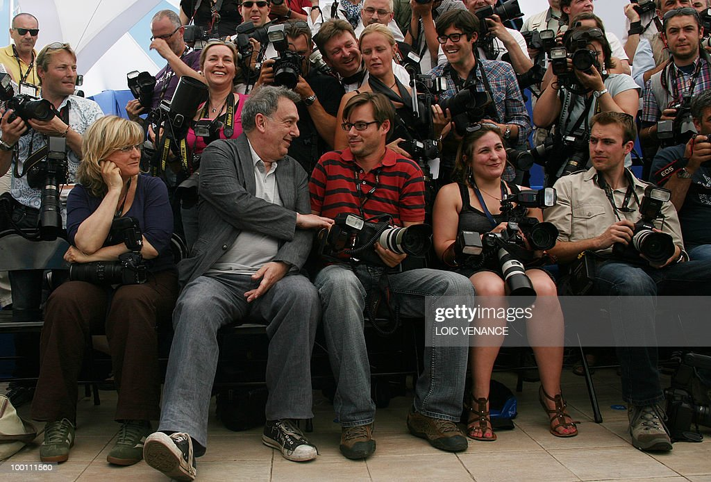 British director Stephen Frears poses wi