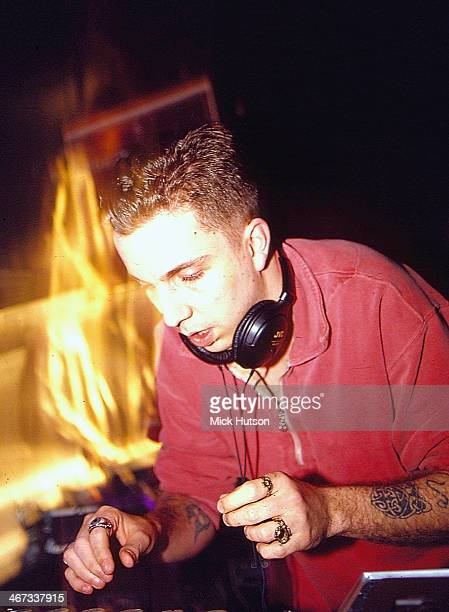 British DJ Andrew Weatherall on stage 1994
