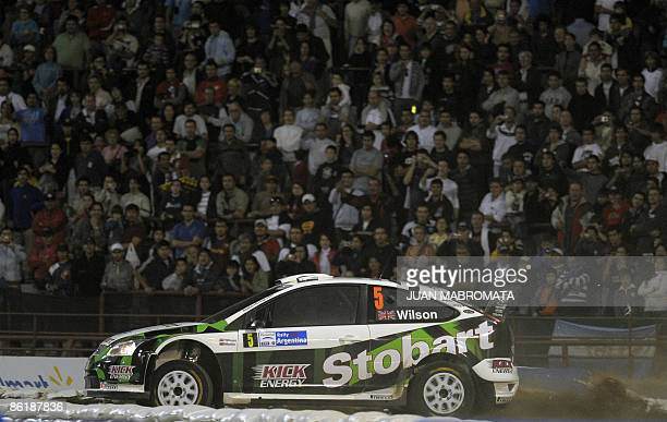 British driver Matthew Wilson steers his Ford Focus RS with codriver Scott Martin during the first stage of the WRC Argentina Rally 2009 at Chateau...