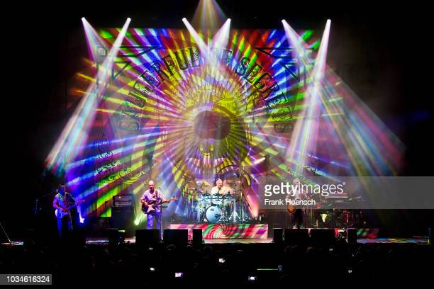 British drummer and musician Nick Mason performs live on stage during a concert at the Tempodrom on September 16 2018 in Berlin Germany