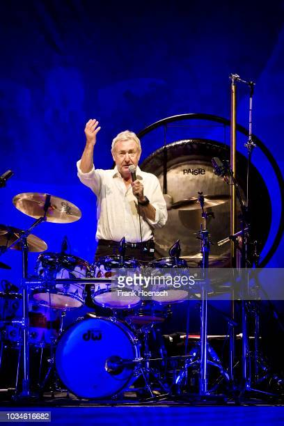 British drummer and musician Nick Mason performs live on stage during a concert at the Tempodrom on September 16, 2018 in Berlin, Germany.