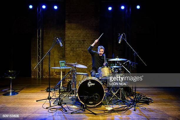 British drummer Ash Soan who has played with artists such as Adele Robbie Williams Cher and Seal performs for guests during a special event at the...