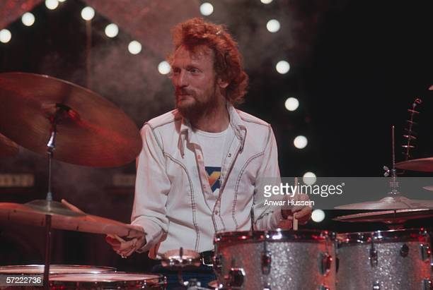 British drummer Ginger Baker a member of Blind Faith Cream and Hawkwind amongst others circa 1975
