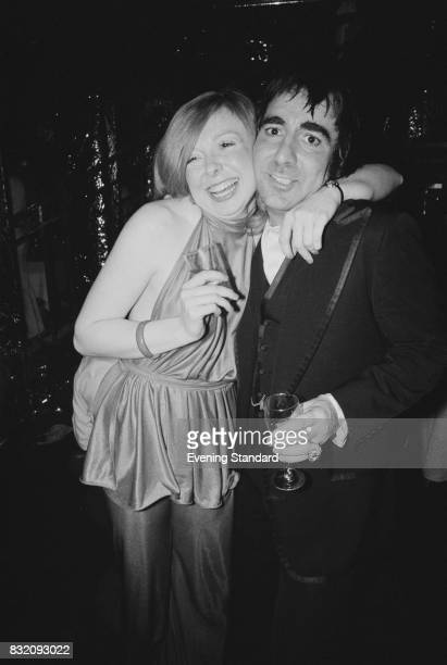 British drummer Keith Moon with American beauty queen Joyce McKinney at 'Saturday Night Fever' film premiere London UK 23rd March 1978