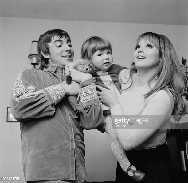 British drummer Keith Moon with his wife Kim Kerrigan and their daughter Amanda UK 30th April 1968